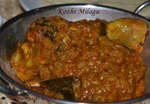 Kozhi Milagu (Pepper Chicken Curry)