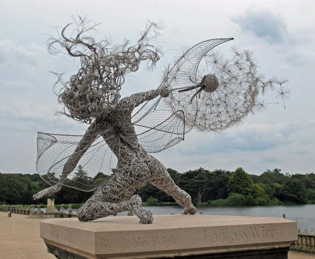 Fantasy Wire Fairy Sculpture Wishes