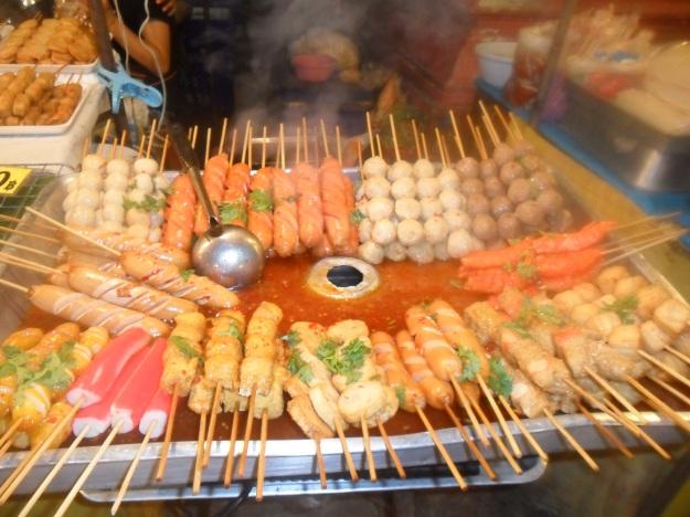 sausages - fish balls