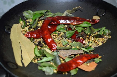 Roasted spices Indian cooking