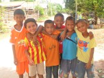 Aston with his friends at Thai Village