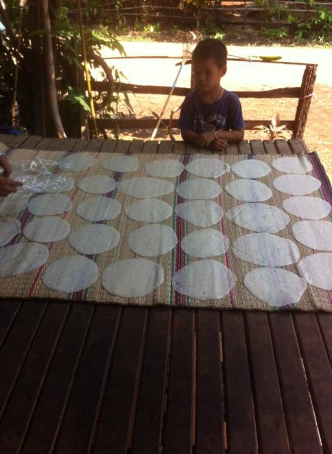 Pancakes drying