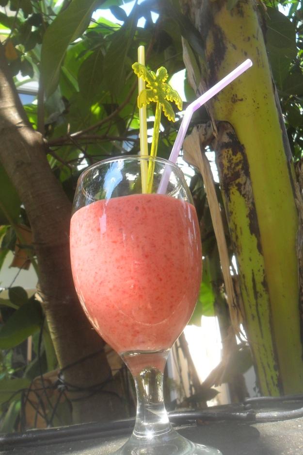 Strawberry Raspberry banana smoothie (3)