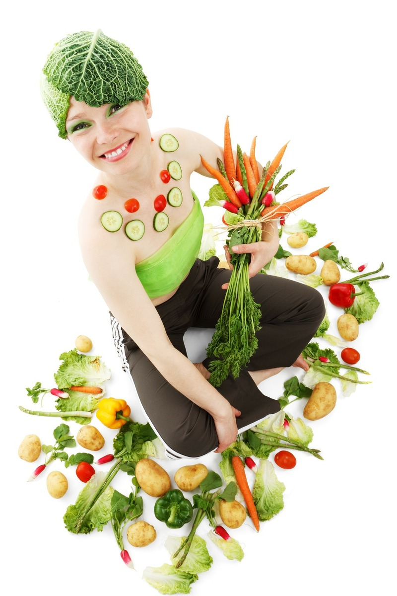 Healthy - Vegetables- Fruit- Lady
