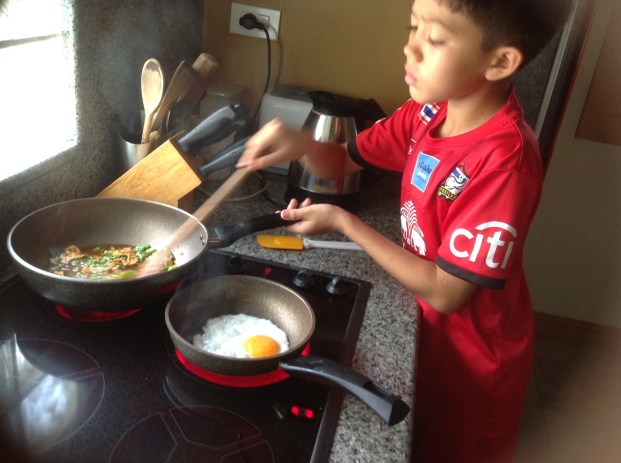 Aston cooking grapow moo