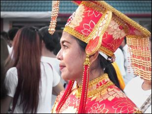 Lady mahsong side view of face