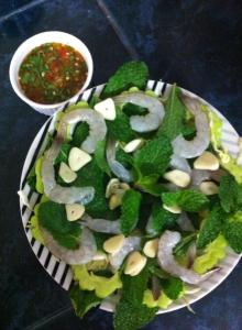 Thai food-raw prawns-spicy-dip