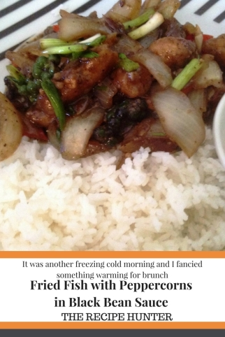 Carol s fried fish with peppercorns in black bean sauce for Fish in black bean sauce