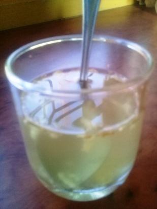 Apple cider vinegar with honey and ginger
