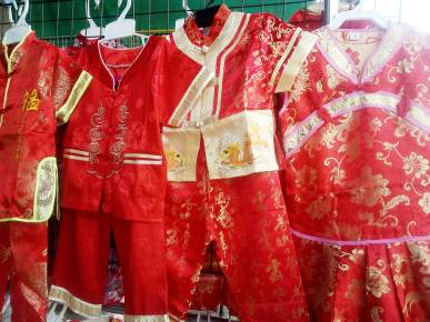 RED AND YELLOW CHILDRENS CLOTHES CHINESE NEW YEAR