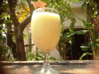 Mango and Pineapple Protein Drink 1