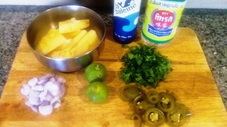 Pickled Pineapple Ingredients