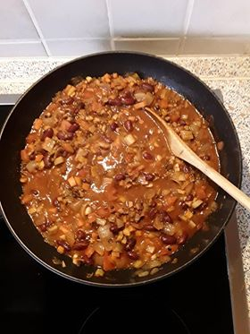 vegetarian chilli with lentils