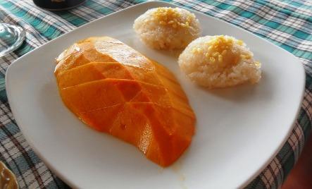 mango sticky coconut rice Thai dessert
