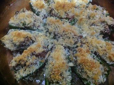 Stuffed jalapenos cooked