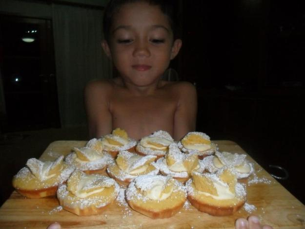 Aston with butterfly cakes