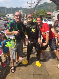 Mike and co Songkran