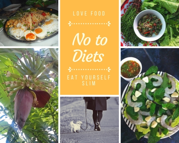 No to diets Thai food collage