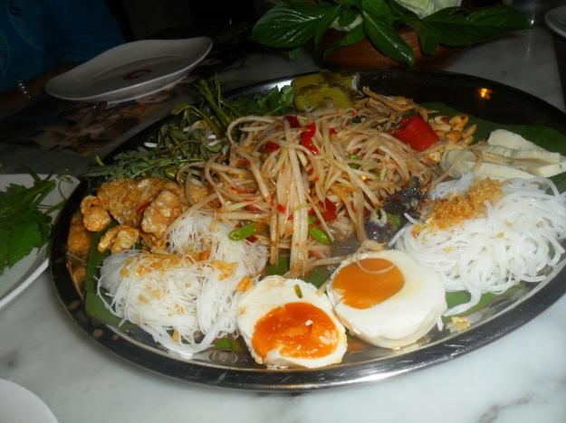 Thai platter in Phuket Town