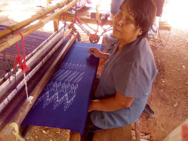 lady weaving