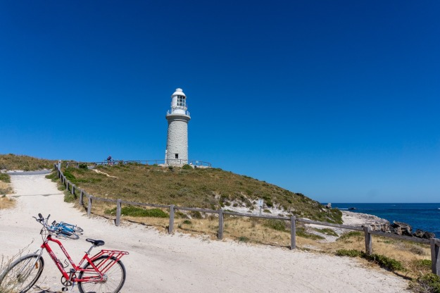 Rottnest lighthouse and bikes