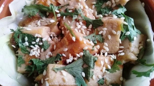 tofu with sesame seeds