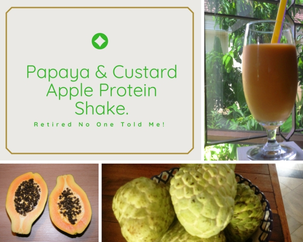 Papaya and Custard Apple Protein Shake