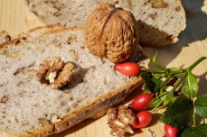 Walnuts- fresh yeast- flour