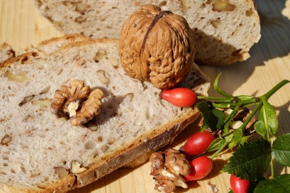 Walnuts- fresh yeast- flour