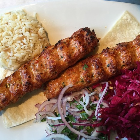 chicken-kebabs-salad-rice