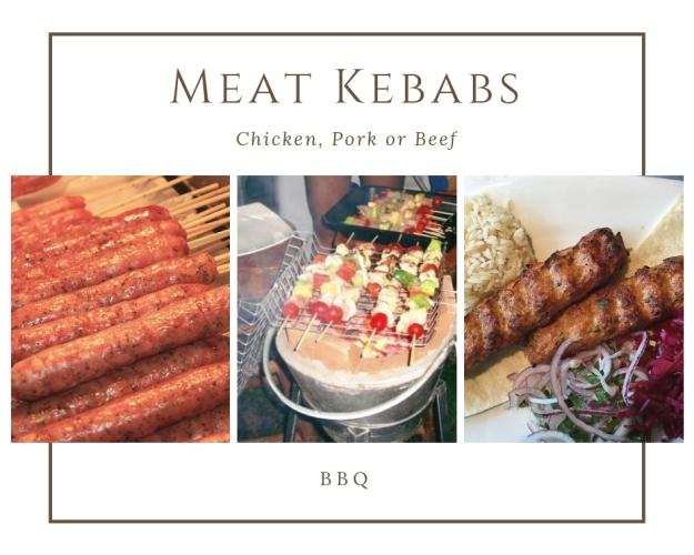 Kebabs-pork-beef-chicken