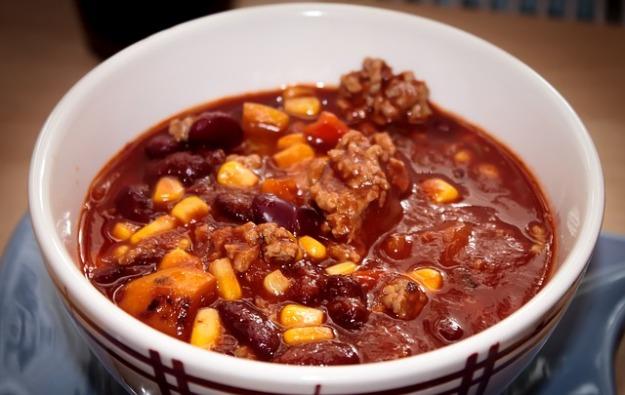 chili-con-carne with pumpkin