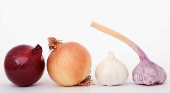 Onions garlic red onions brown onions