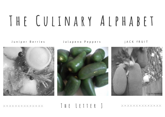 The culinary althabet 29TH Oct