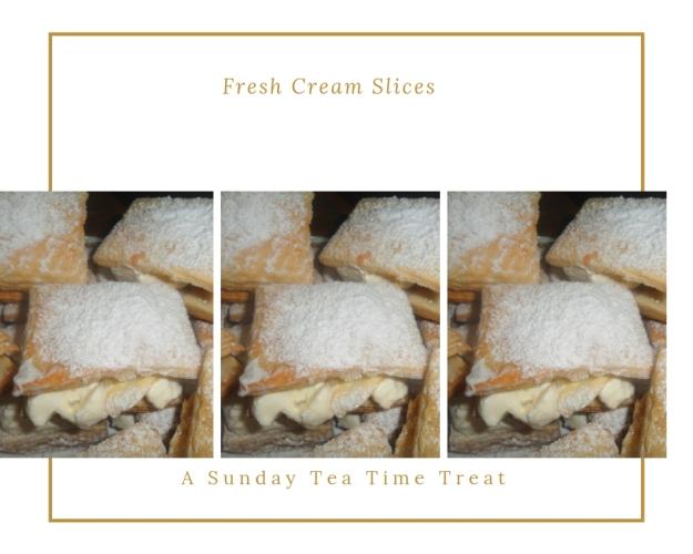 fresh cream Jam Puff pastry