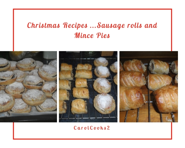sausage rolls mince pies home made