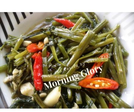 Thai vegetable morning glory