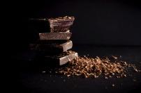 dark chocolate stacked