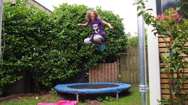 girl trampoline