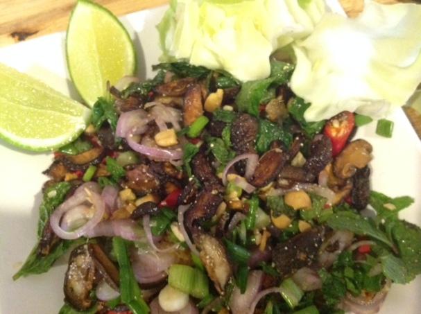 shiitake mushroom Thai larb