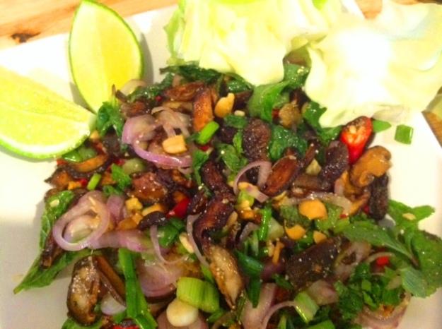 shitake mushroom larb