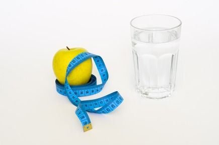 glass water apple tape measure