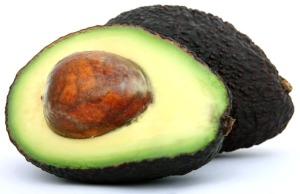 Avocado two halves