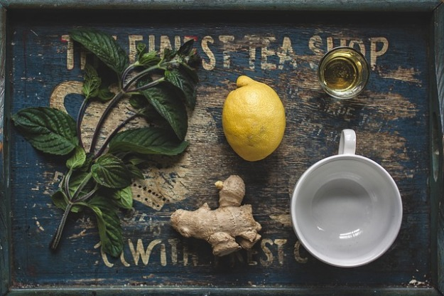 Tea ginger lemon basil