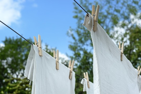 washing on the line pegs