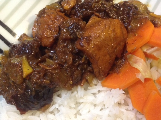 Chicken and Prune Tagine with rice