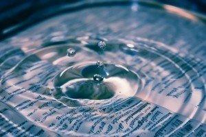drop falling into water