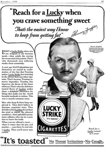 Lucky strike poster black and white
