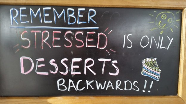 stressed is only desserts backwards