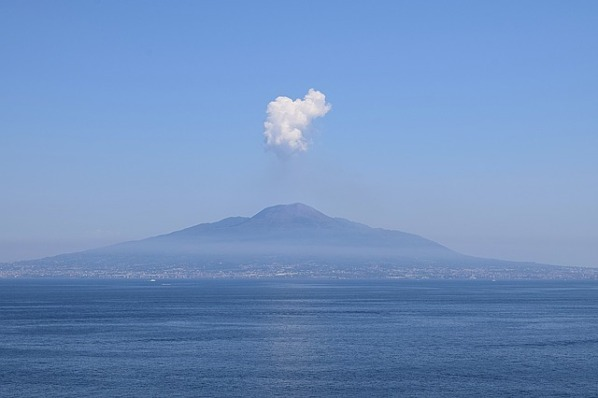 Mount Vesuvius smoking